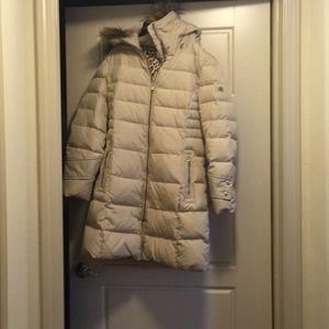 Calvin Klein parka with fur hood